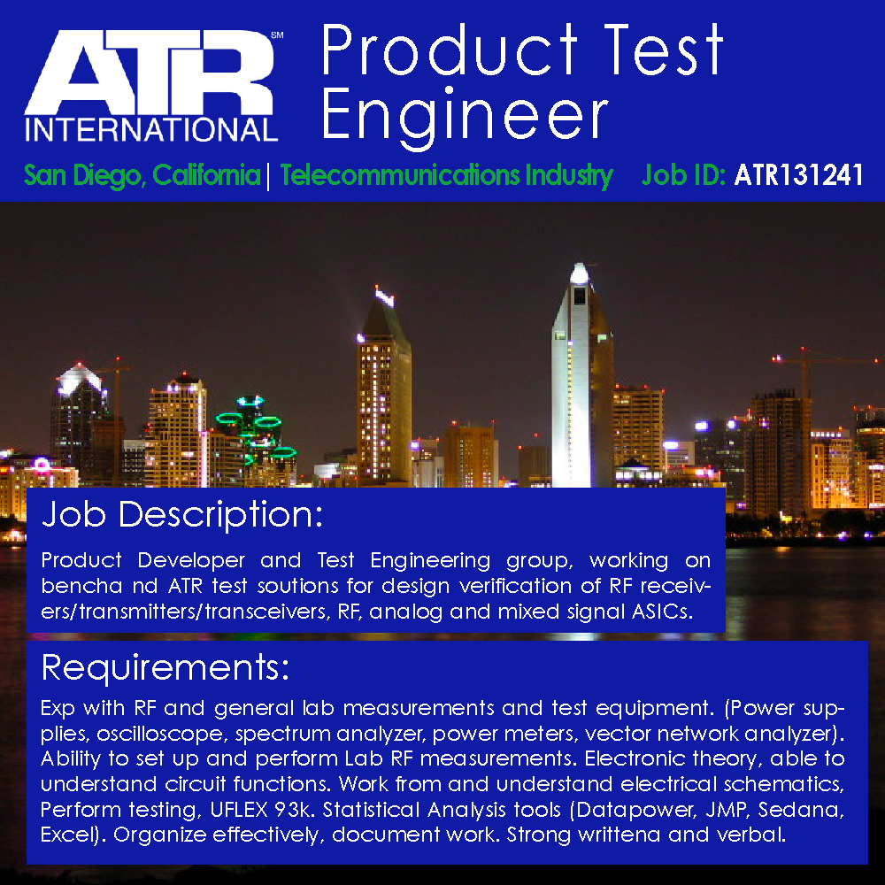 Product Test Engineer