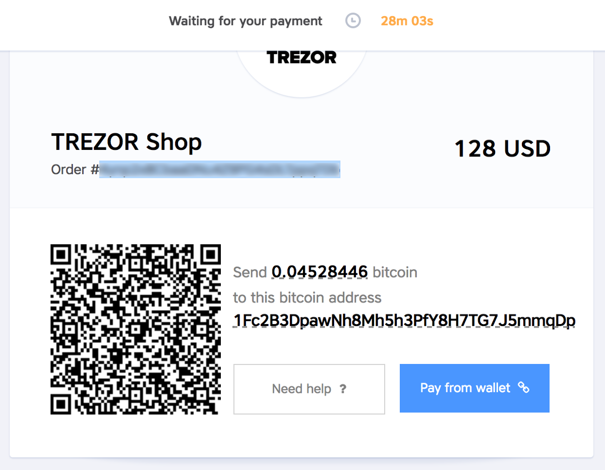 Time To Order My Trezor