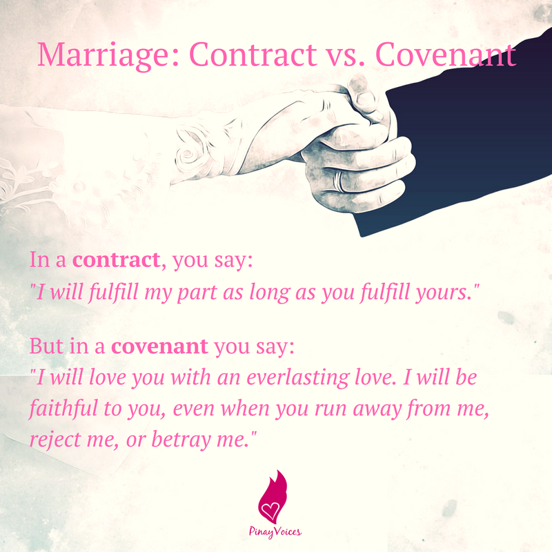 Graphic marriage contract vs covenant pinayvoices graphic marriage contract vs covenant altavistaventures Choice Image