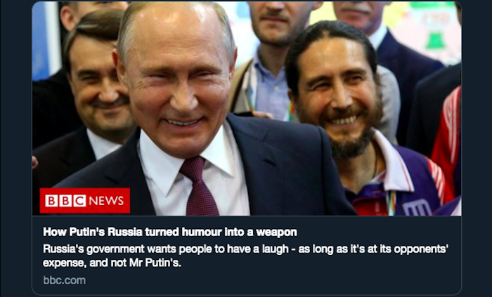 Don't Laugh—It's Giving Putin What He Wants – Caitlin Johnstone – Medium