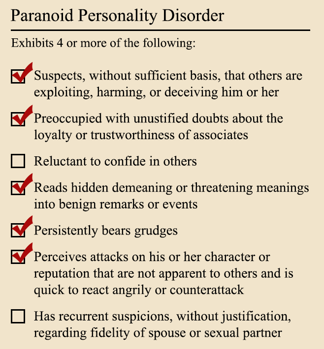 woman with paranoid personality disorder