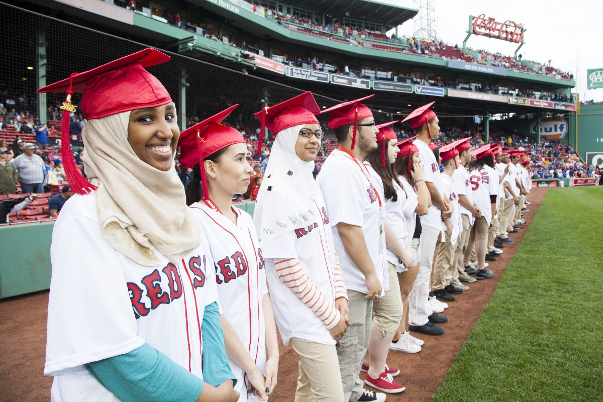 Red Sox Scholars Class Of 2016 Inducted Fenway Frames
