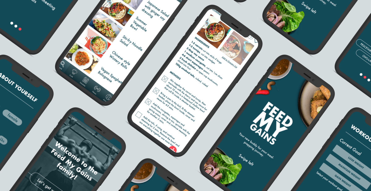 UX Case Study: Feed My Gains App