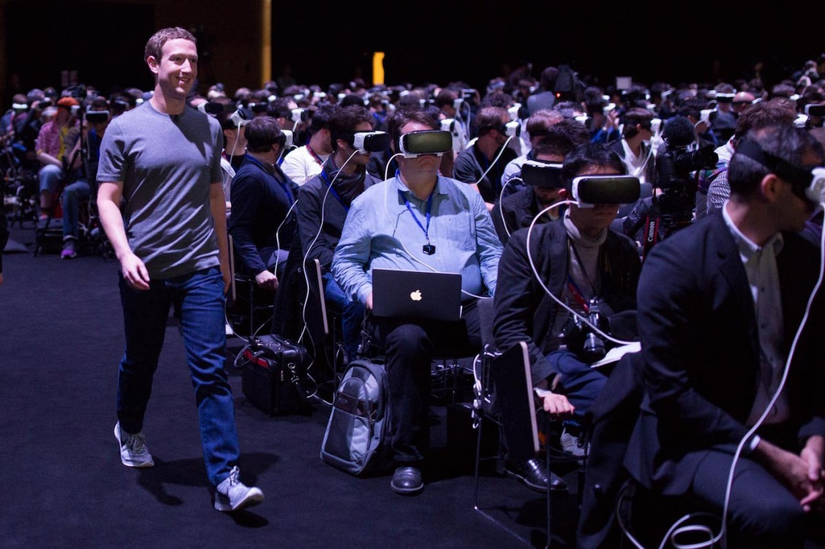 Pictured Technologists Enjoying Simulated Reality As Zuckerberg A Simulacrum Of Revolutionary Smiles