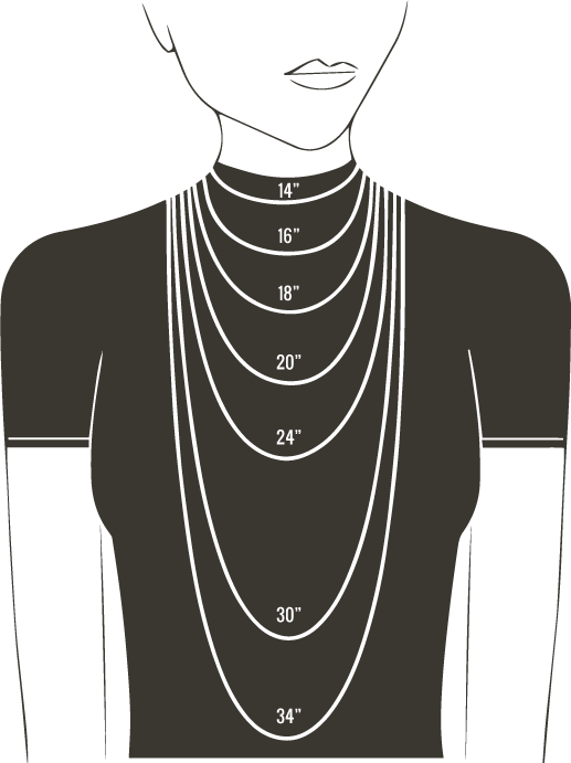NECKLACE SIZE CHART FOR WOMEN – Gemn Jewelery – Medium