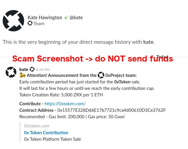 A Note On Scams And Phishing Attempts 0x Protocol