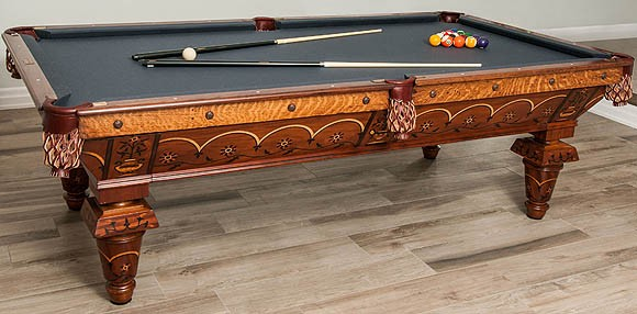 8c5c2b7457b89 This large furniture is more detailed and finely crafted compared to the  new designs. To compare to the complex design and elegance of an antique  pool table ...