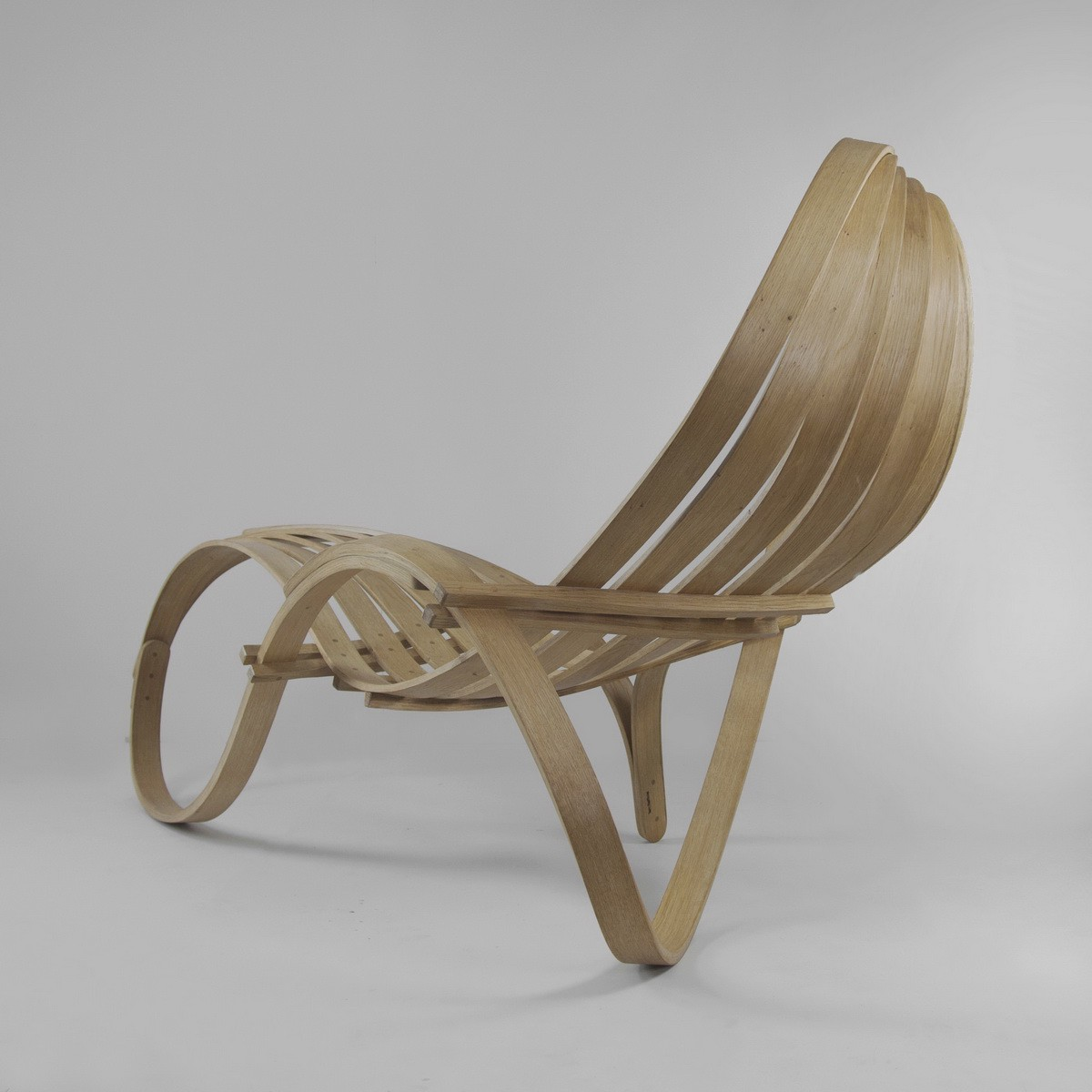 Handmade from pure British Oak, the lounger is an outstanding example of unconventional  furniture in which design ...