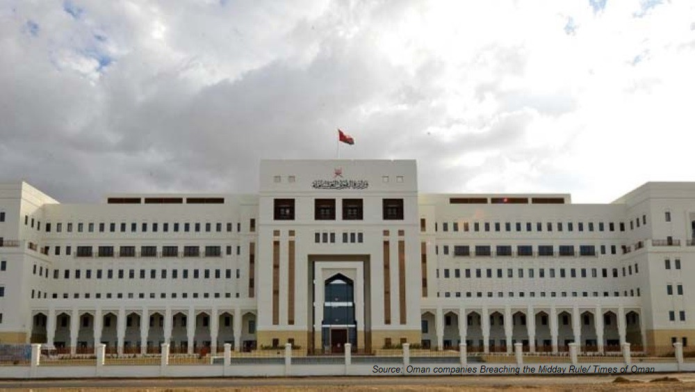 The Sultanate of Oman Records 771 companies Breaching the Midday Rule