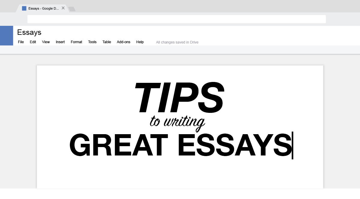 Tips To Write An Amazing College Application Essay