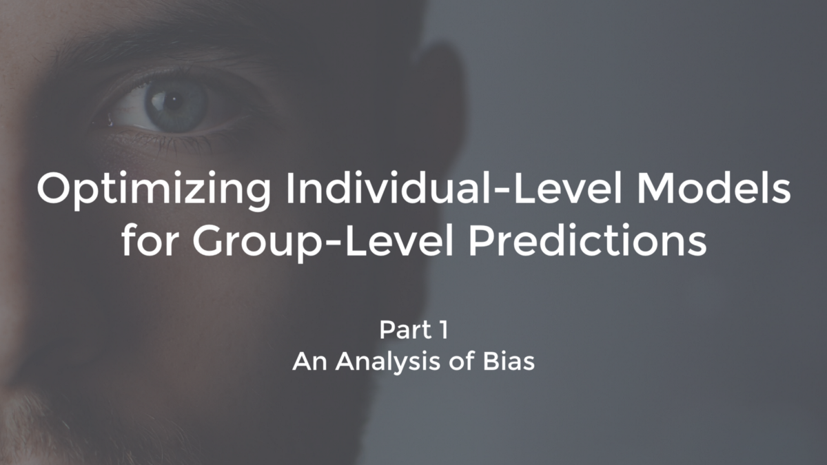 Optimizing Individual-Level Models for Group-Level Predictions
