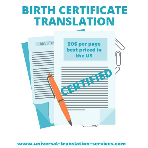 birth certificate translation for universal translation services