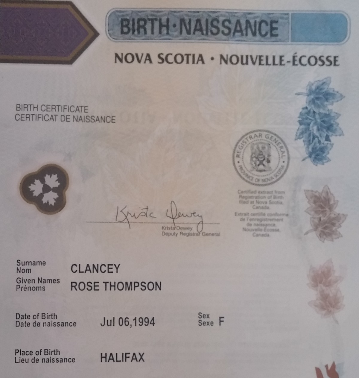 Situating my birth certificate in its historical context today i received my updated birth certificate this very important slip of laminated paper allows me to access services notably healthcare under my real aiddatafo Choice Image
