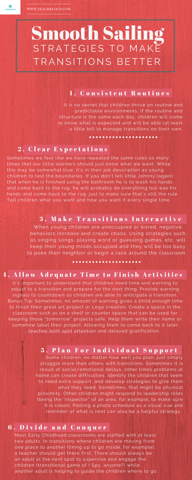 Smooth Sailing 6 Strategies To Make Transitions Better Infographic