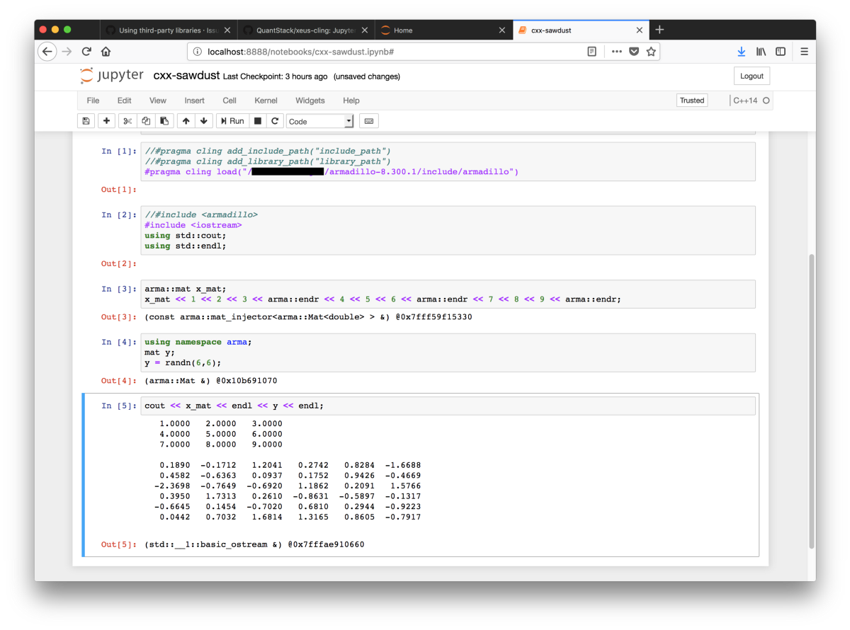 Language In 45 And 47 Stella Street: C++ On Jupyter Notebooks
