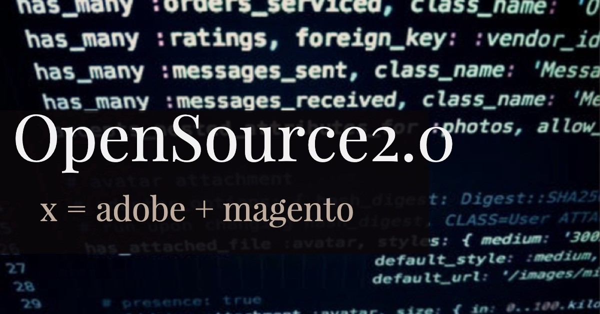brentwpeterson: Did you know that @adobe is open source already! https://t.co/0Ao21VLLrX  #MagentoImagine