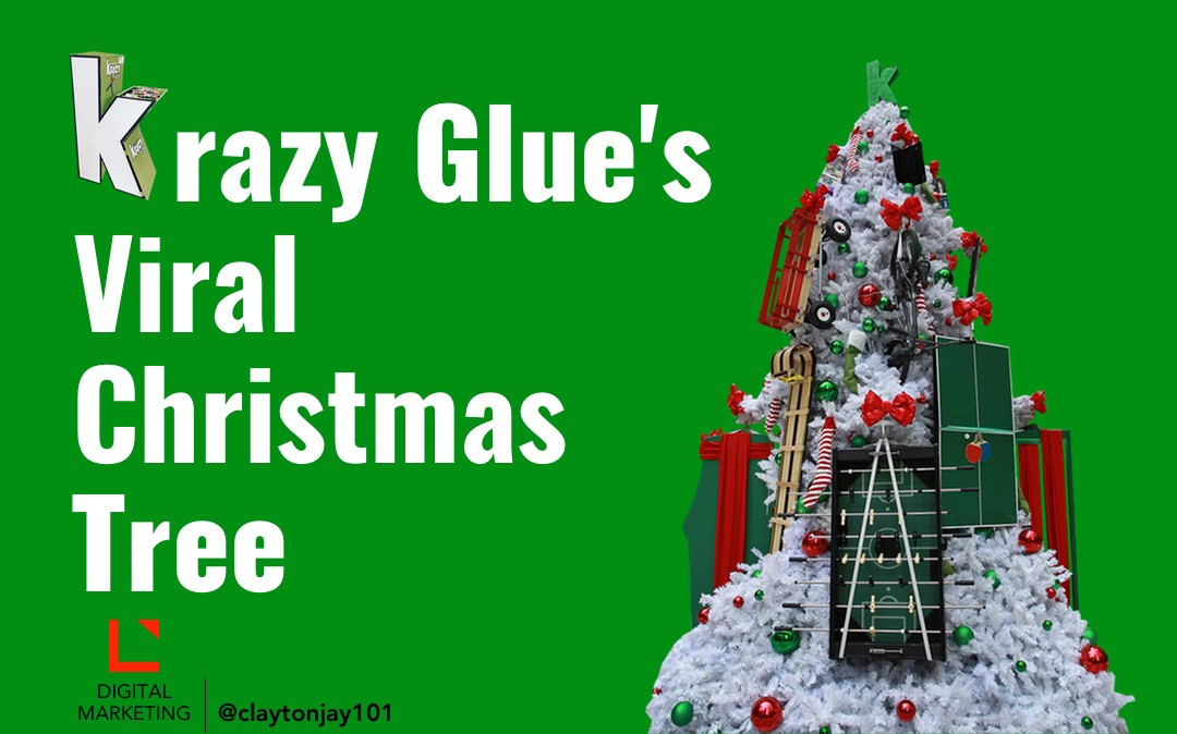 krazy glues viral christmas tree
