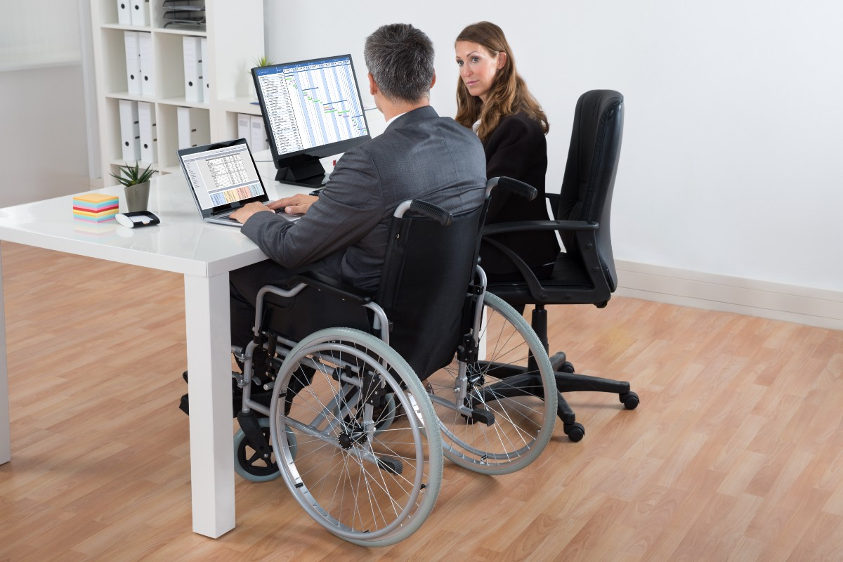disabilities in workplace A report on the right of persons with disabilities to work written by the office of  the high commissioner for human rights of the united nations an easy to read .