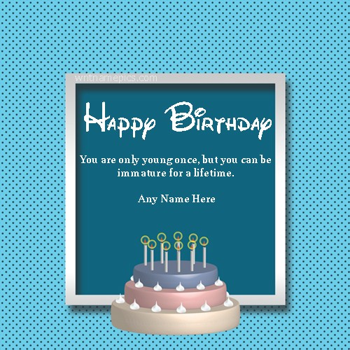 Happy Birthday Greeting Card With Name Pic