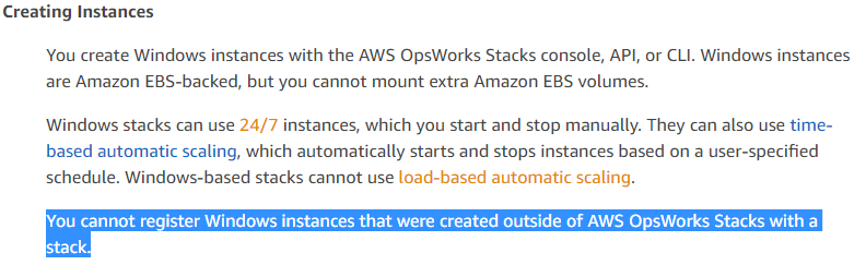 High available Opsworks Stack with load balancer — Windows