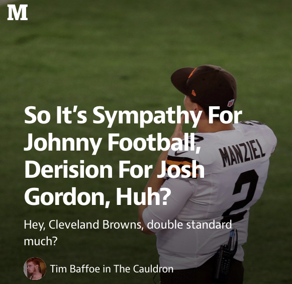 Sportsaholics Anonymous: Thoughts On Josh, Johnny, Gronk And Recovery