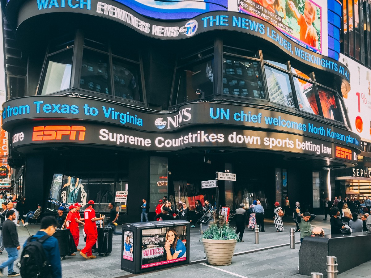 The Supreme Court allows states to legalize and regulate sports betting.