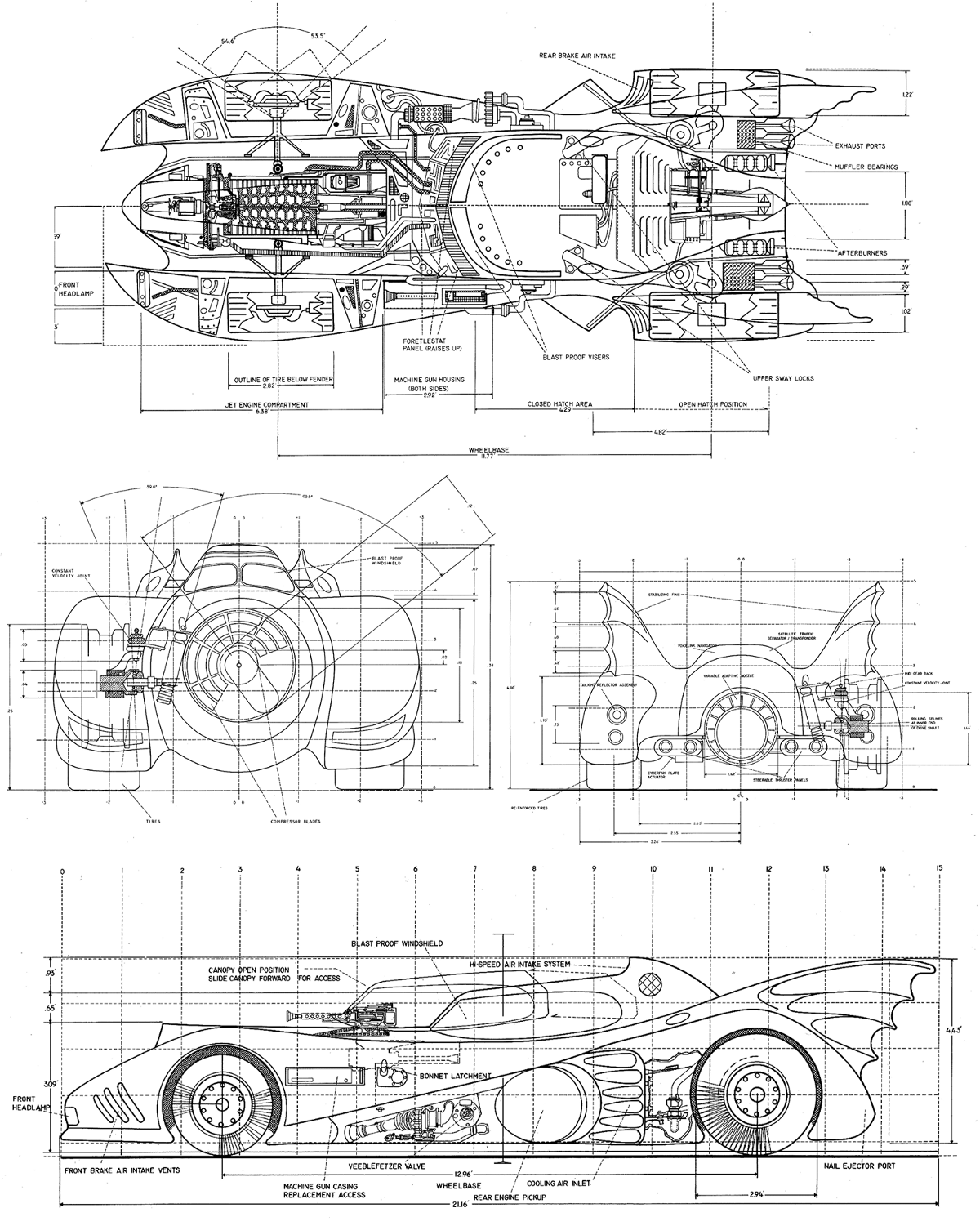 Game Developers Guide To Graphical Projections With Video Mad Max Engine Diagram Batmobile From Batman Warner Bros 1989 Left X Wing Fighter The Essential Vehicles And Vessels Troy Vigil Illustrator 1996 Right