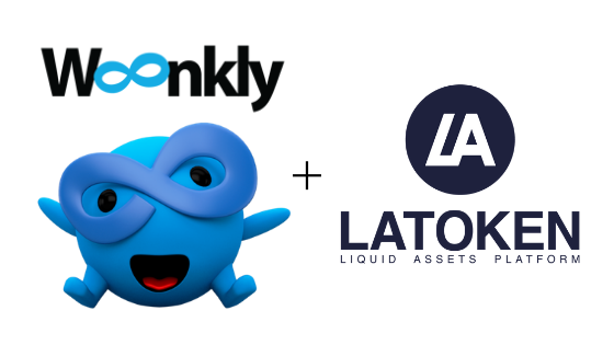 Woonkly and LAToken logos