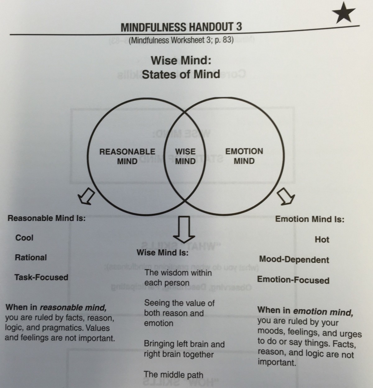 Wise Mind States of Mind James Wakefield Medium – Wise Mind Worksheet