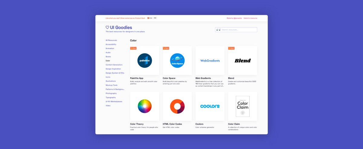 UI Goodies 2.0! A redesign and more resources for designers!