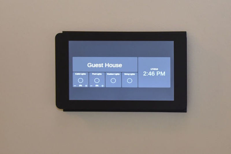Flush Mounted Raspberry Pi Home Automation Touchscreen