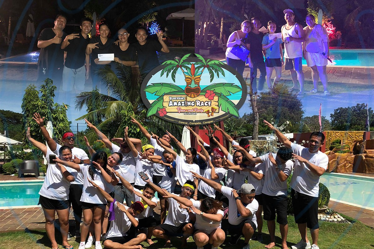 A winning celebration blueprint invades mactan island blueprint business solutions an innovative virtual staffing agency in mactan staged their first ever year end party along with a heart pumping amazing race malvernweather Images