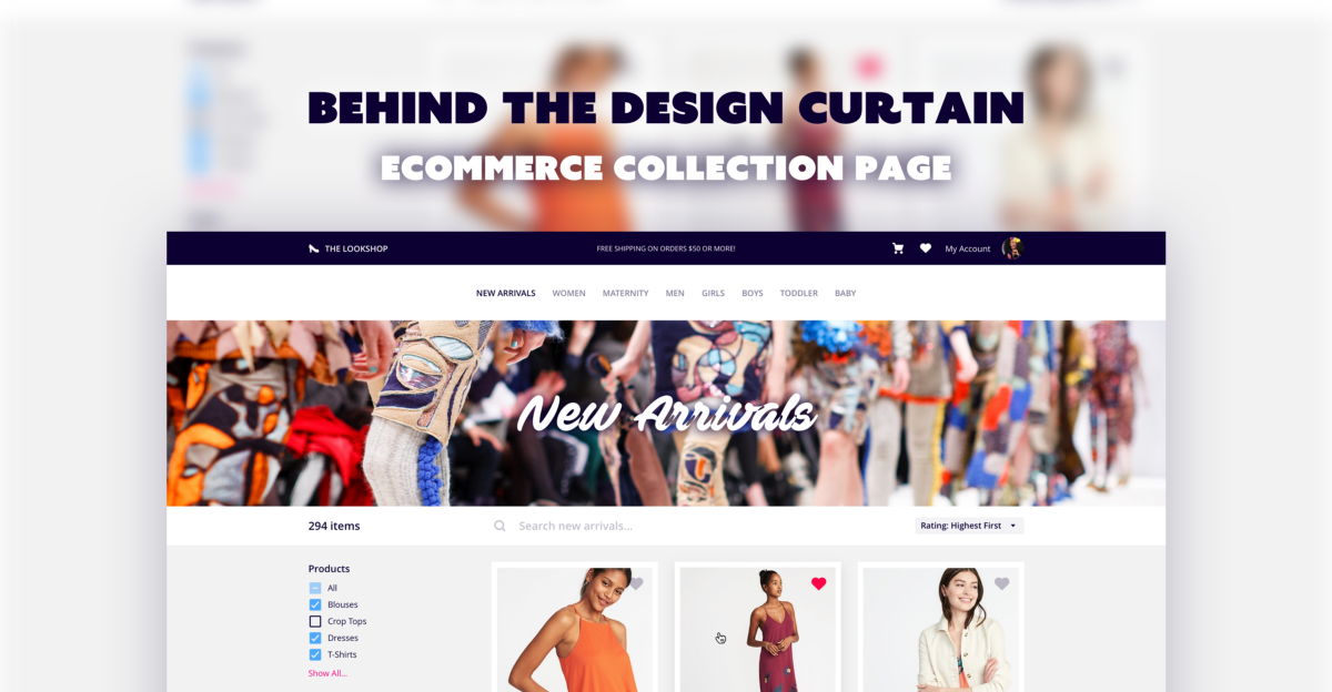 Behind the Design Curtain: eCommerce Collection Page