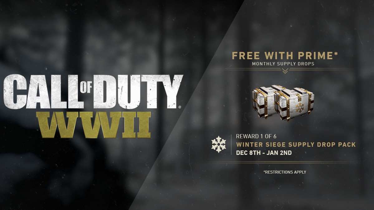 Twitch Prime members, get even more from Call of Duty: WWII!  Twitch Prime me...