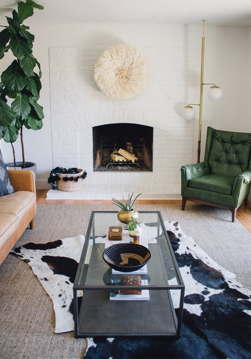 Below are some ways to use hair on hide rugs in your home decor