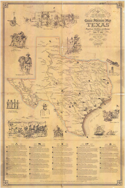 Texas Land Commissioner Jerry Patterson\'s Great Military Map of ...