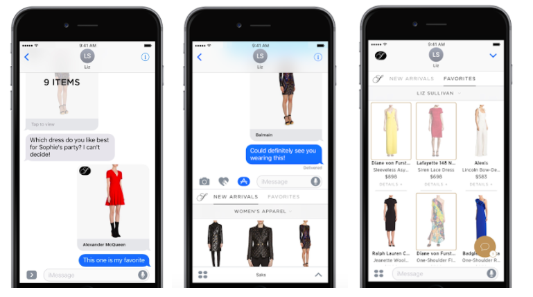 4ecb4c1a0c60 An update to the Saks Fifth Avenue mobile app included new messaging  functionality that allows shoppers to ask questions about products and make  purchases ...