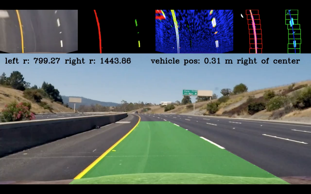 Road Lane Lines Detection Using Advanced Computer Vision