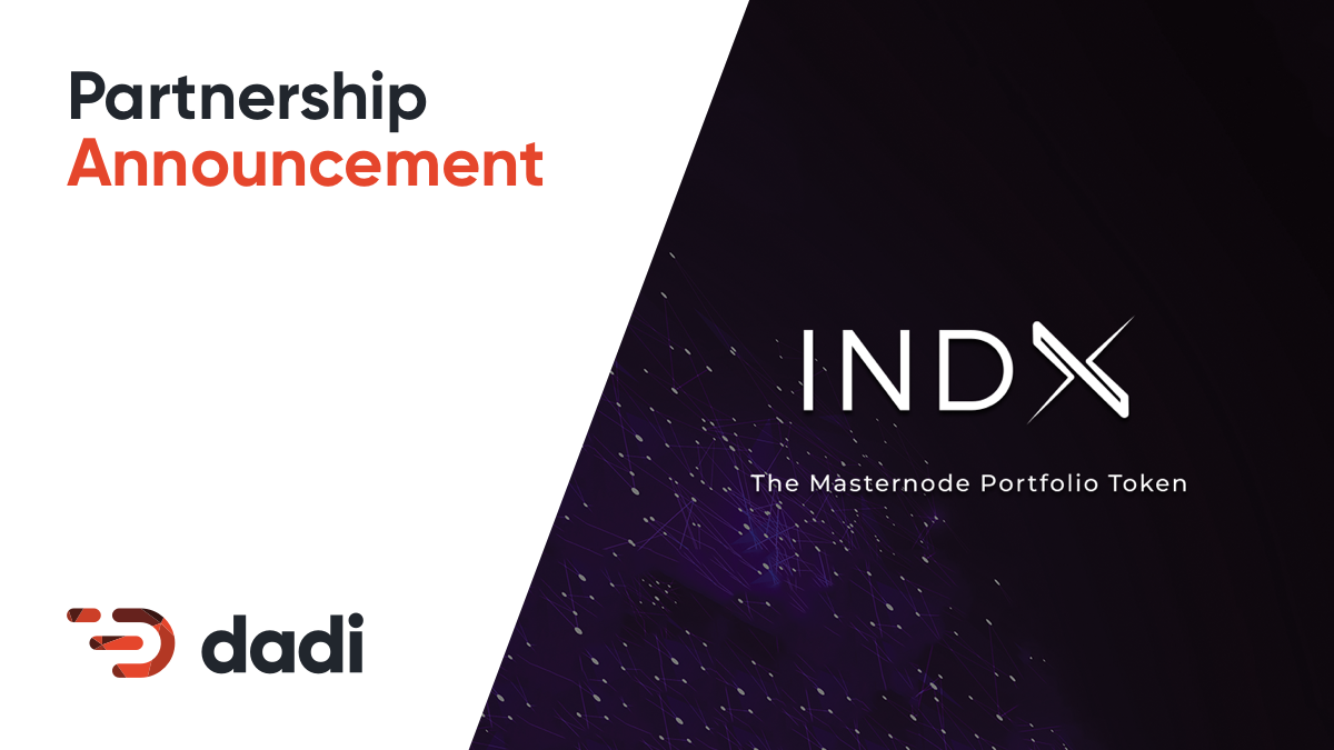 Partnership announcement indx dadi medium dadi network to run masternodes for upcoming blockchain investment product thecheapjerseys Images