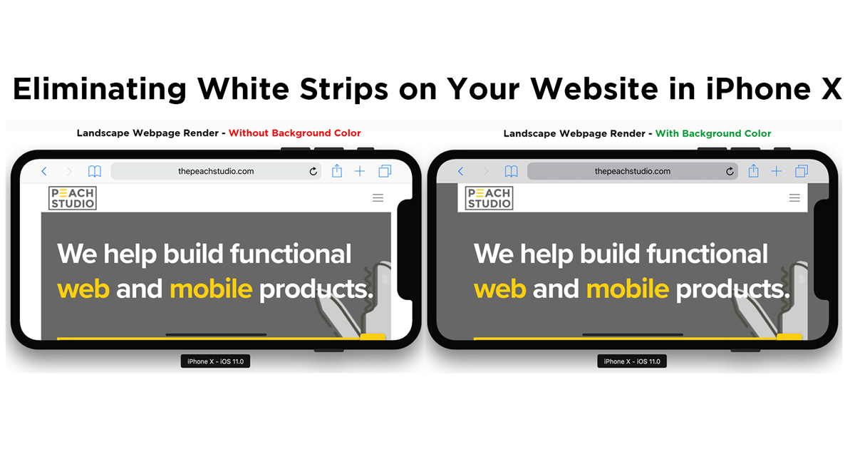 Designing Responsive Webpages For The Iphone X Peach Studio Medium Background Colors For Web Pages