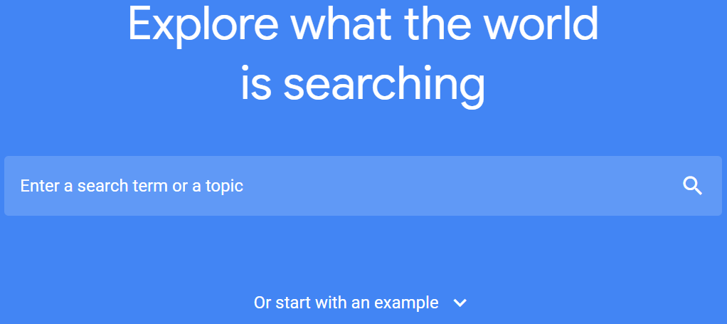 Google trend for audience research