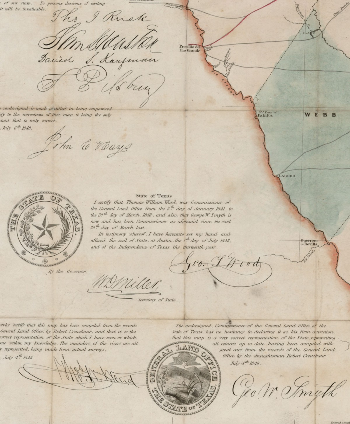 Worksheet. J De Cordovas Map of the State of Texas  Save Texas History