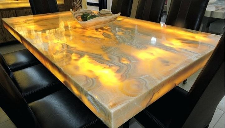 Just A Tiny Fraction Of Homes Feature Natural Stone Slab Dining Tables Making Topped