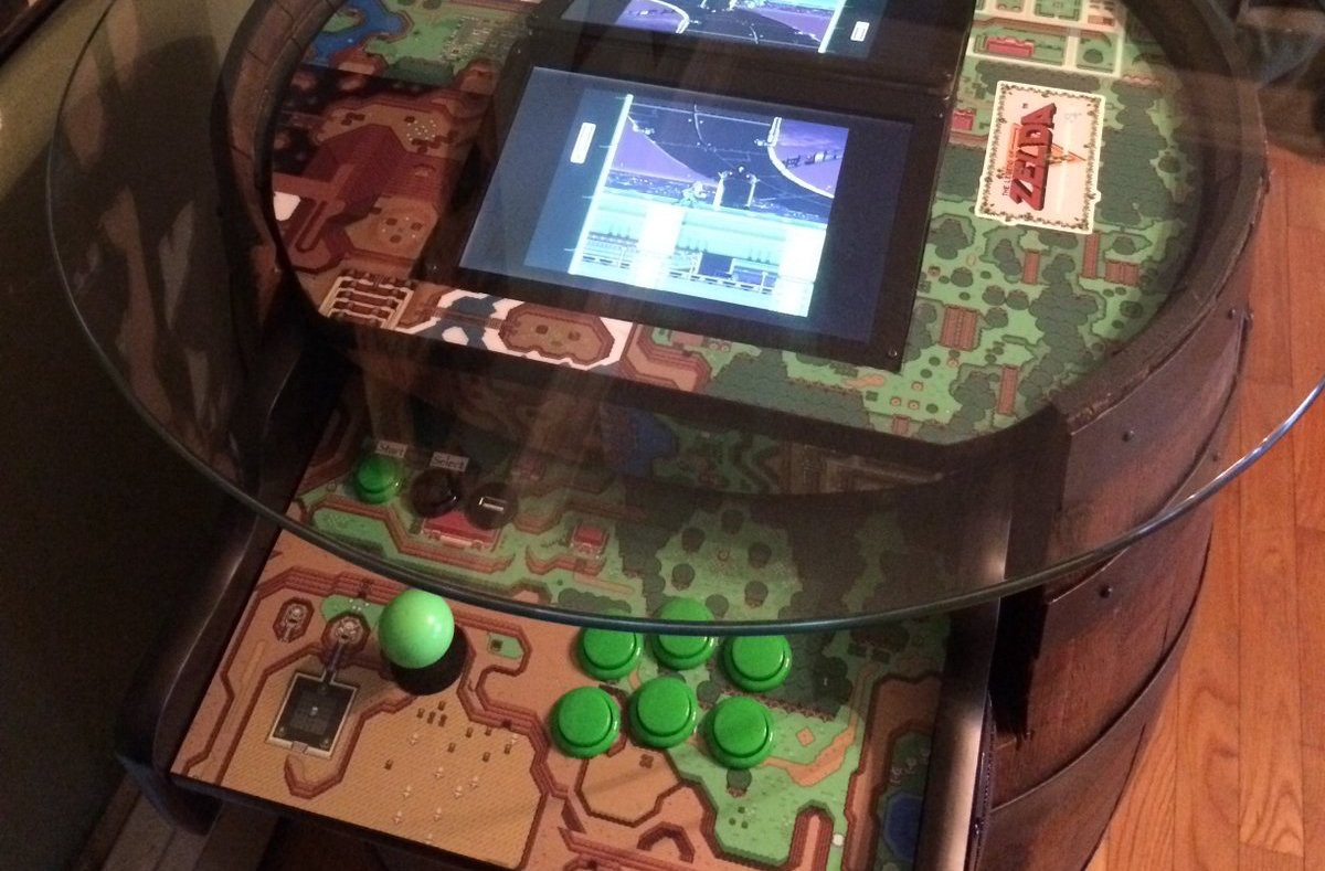 raspberry pi arcade cabinet convert a wine barrel into a legend of arcade machine 25060