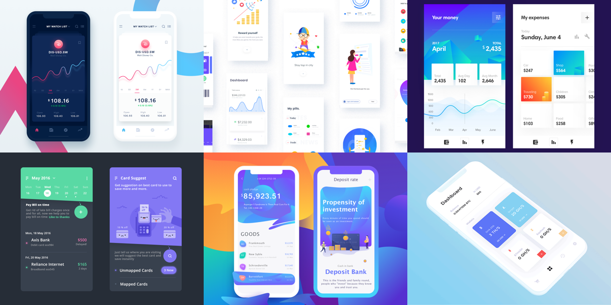 Friday design inspiration awesome finance app designs