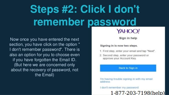 how to reset password of yahoo email id