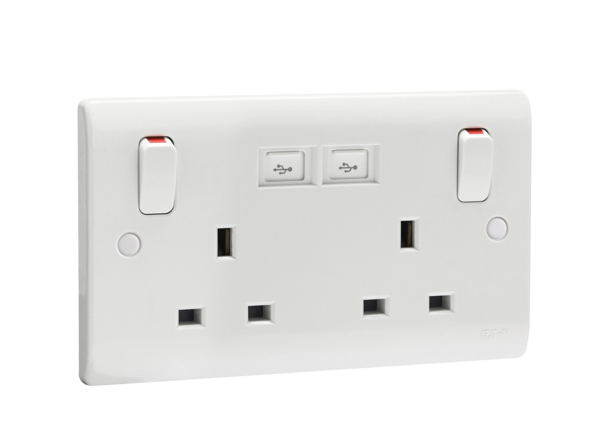 Eaton\'s New 2-gang Switched Sockets with USB Ports Make It Easy to ...