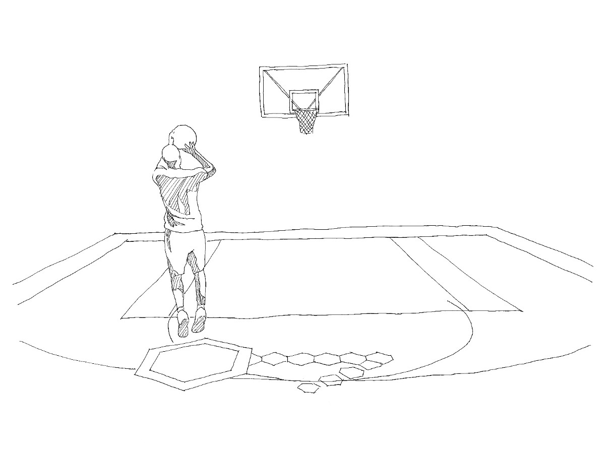 10 Principles Of Physical Experience Design One Community Diagram Pictures 2 How To Draw A Basketball Hoop Step 4 The Last Shot By Akqa Created An Interactive Court Where Visitors Can Relive Key Moments From Career Michael Jordan