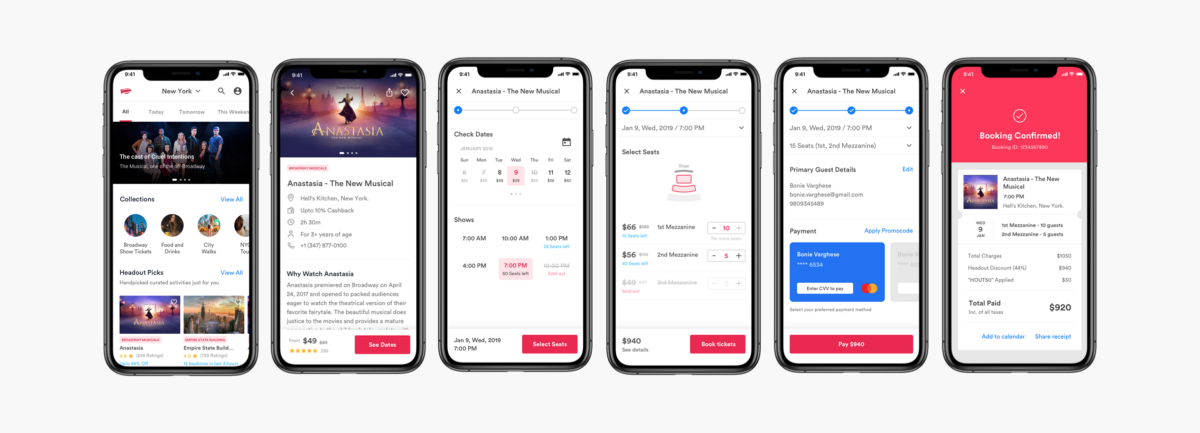 New checkout user flow and redesign of Headout mobile app