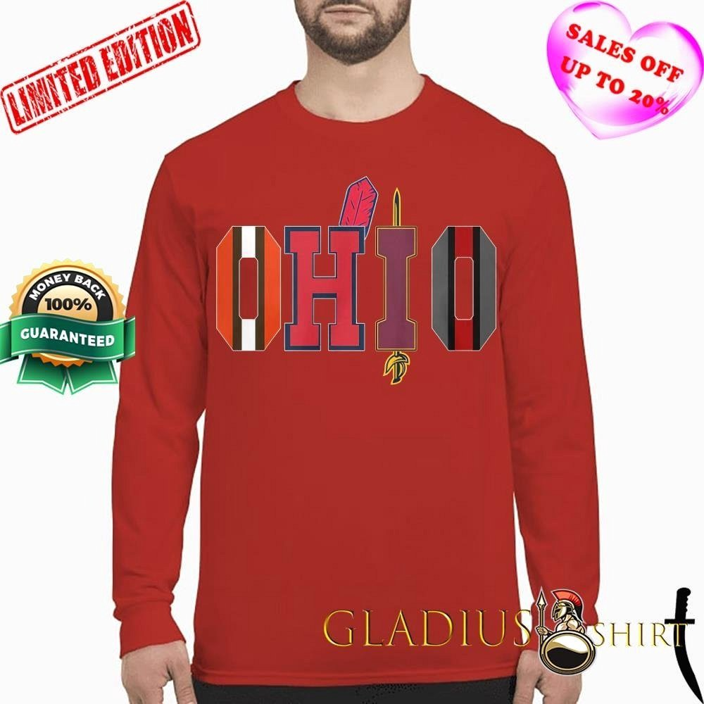 Made in Ohio Longsleeve T-Shirt buckeyes browns indians cavaliers cleveland home